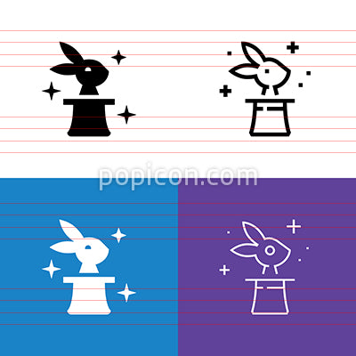 Rabbit In The Hat Icon Set