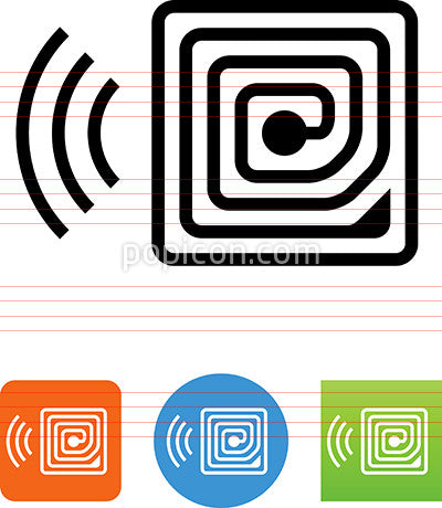 Radio Frequency Identification RFID Icon