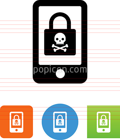 Ransomware On Phone Icon