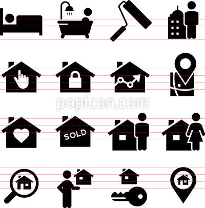Realtor Icons - Black Series