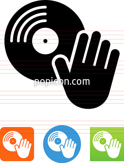 Record Scratching Icon