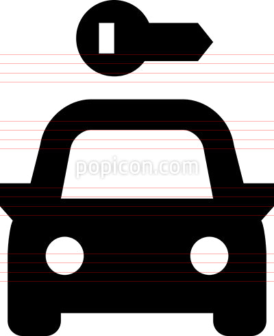 Rental Car Vector Icon