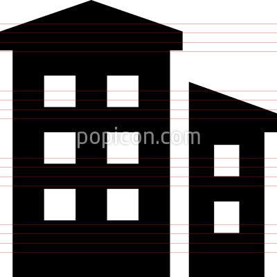 Residential Buildings Vector Icon