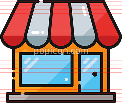 Retail Store Filled Outline Icon