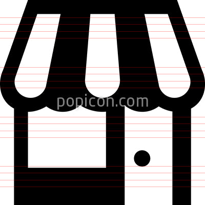 Retail Store Vector Icon
