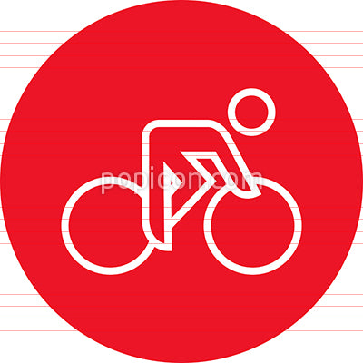 Road Bike Cycling Outline Icon