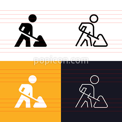 Road Construction Icon Set