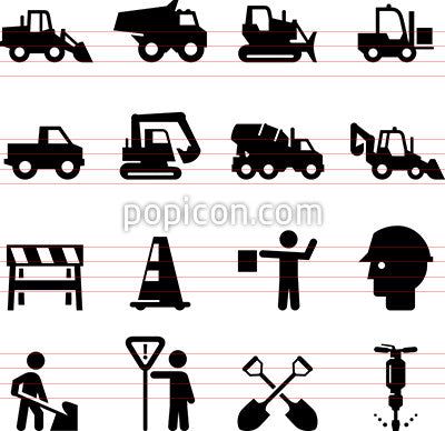Road Work Icons
