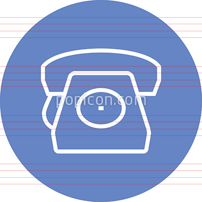 Rotary Phone Landline Outline Icon