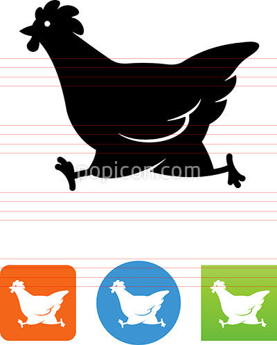 Running Chicken Icon