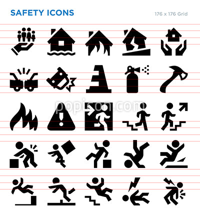 Safety And Insurance Vector Icon Set