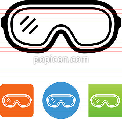 safety goggles icon popicon rh popicon com  safety eyewear clipart