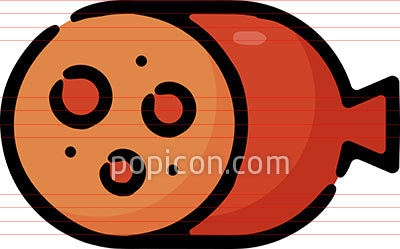 Sausage Vector Hand Drawn Icon
