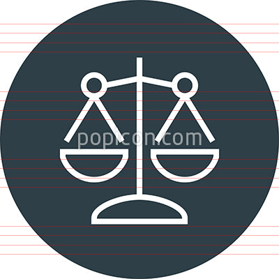 Scale Balance Law Justice Outline Icon