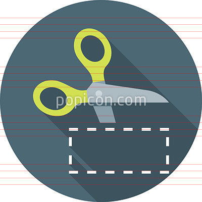 Scissors Cutting Coupon Icon