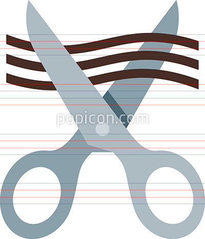 Scissors Cutting Hair Icon