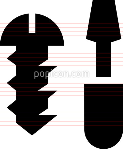 Screw Screwdriver Vector Icon