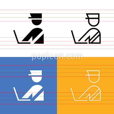 Security Checkpoint Icon Set