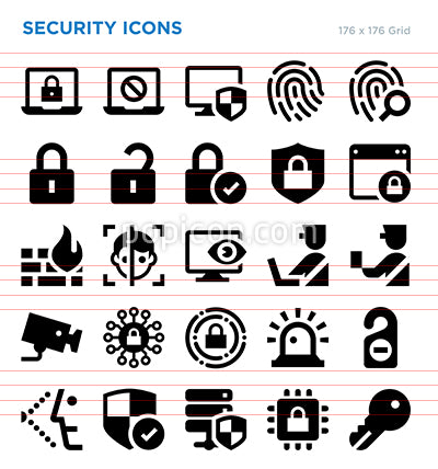 Security Vector Icon Set
