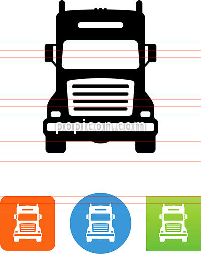 Semi Truck Front View Icon