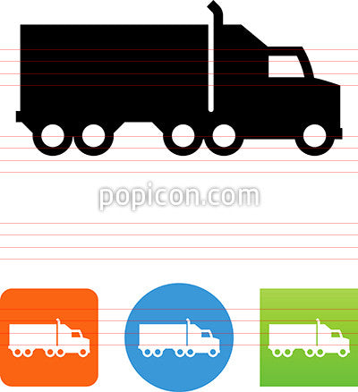 Semi Truck Side View Icon