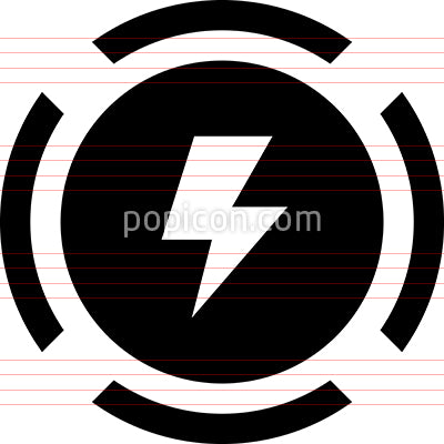 Shock Lightning Voltage Warning Icon