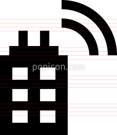Smart Building Vector Icon