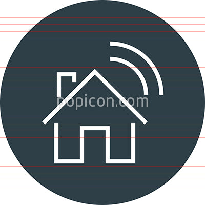 Smart Home WiFi Outline Icon