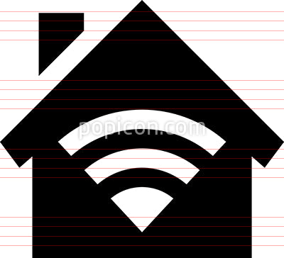 Smart Home WiFi Vector Icon