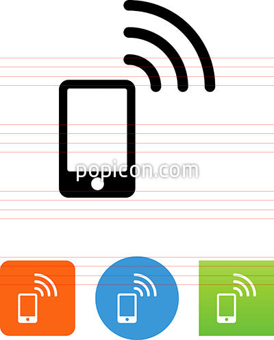 Smart Phone With Wireless Signal Icon
