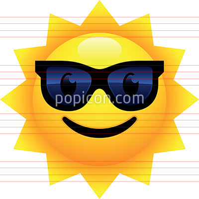 Smiling Sun Face With Sunglasses Emoji
