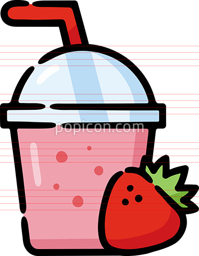 Smoothie Shake Hand Drawn Icon