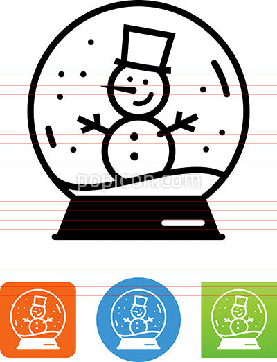 Snowglobe With Snowman Icon