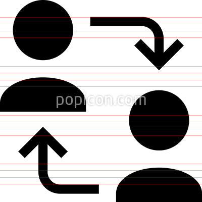 Social Sharing Networking Vector Icon