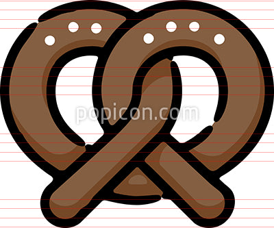 Soft Pretzel Hand Drawn Icon