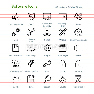 Software Icons - Outline