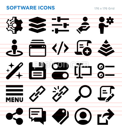 Software Vector Icon Set