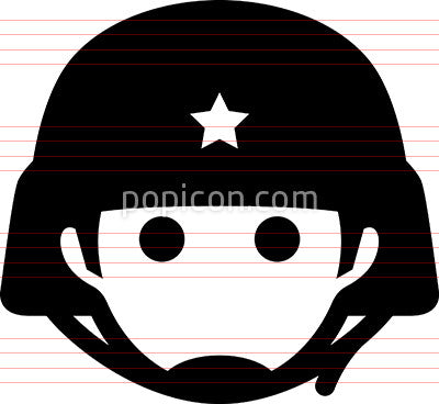 Soldier With Helmet Icon
