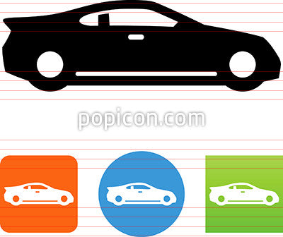 Sports Car Side View Icon