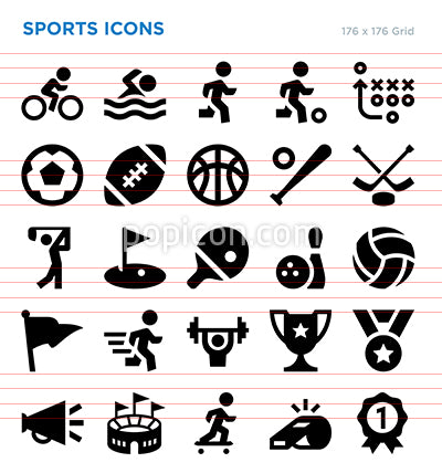 Sports Vector Icon Set