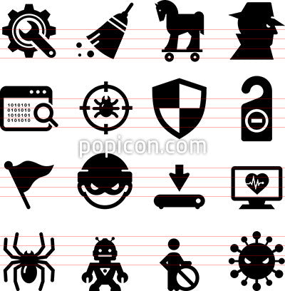 Spyware and Malware Icons