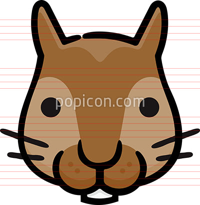 Squirrel Head Hand Drawn Icon