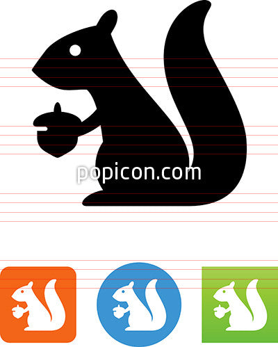 Squirrel With Nut Icon
