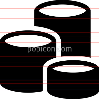 Steel Cans Vector Icon