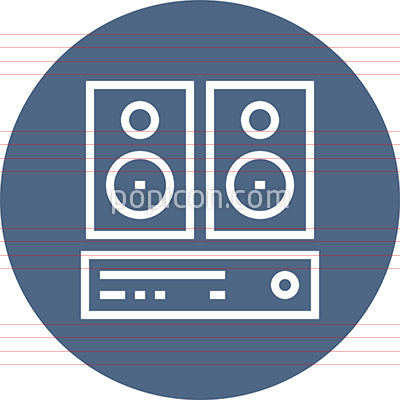 Stereo Sound System Outline Icon