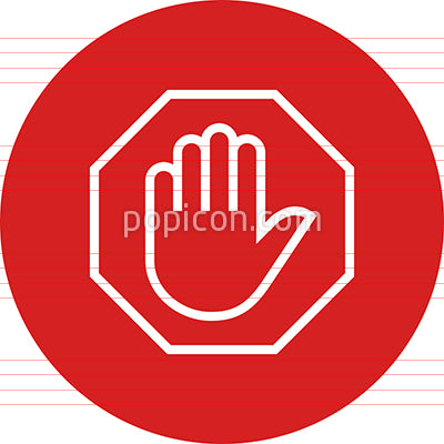 Stop Sign Dont Walk Outline Icon