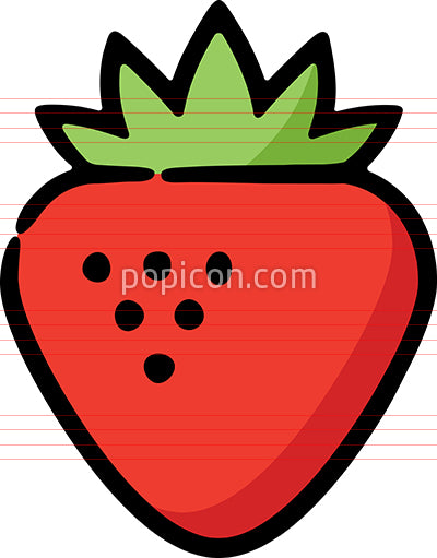 Strawberry Fruit Hand Drawn Icon