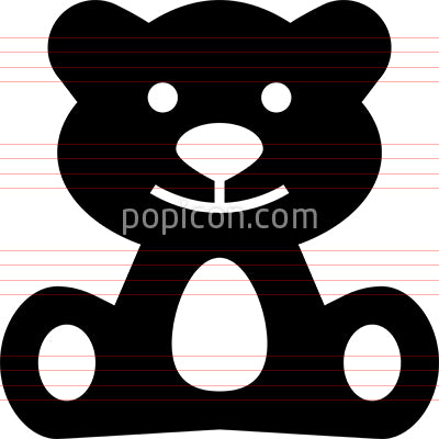 Stuffed Animal Bear Toy Vector Icon
