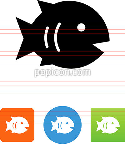 Stylized Fish Icon