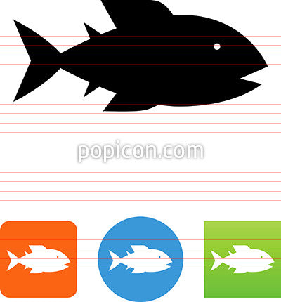 Stylized Seafood Fish Icon